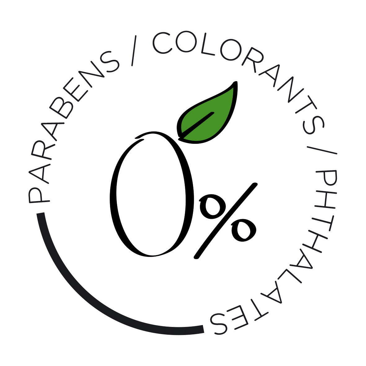 0% Parabens Colorants Phthalates