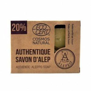 Pastilla de Jabón de Alepo al 20% ECOCERT