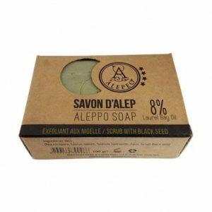 Pastilla de Jabón de Alepo Exfoliante Black Seed