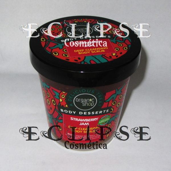 Exfoliante Corporal Limpieza Profunda Mermelada de Fresa Eclipse Cosmética