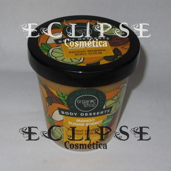 Exfoliante Corporal Renovación Sorbete Azúcar de Mango Eclipse Cosmética