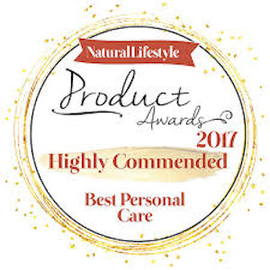 Natural Lifestyle Product Awards 2017 Highly Commended Best Personal Care
