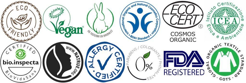 Certificados Orgánicos, Naturales y Veganos
