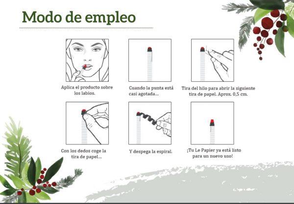 Modo Empleo Le Papier Lips