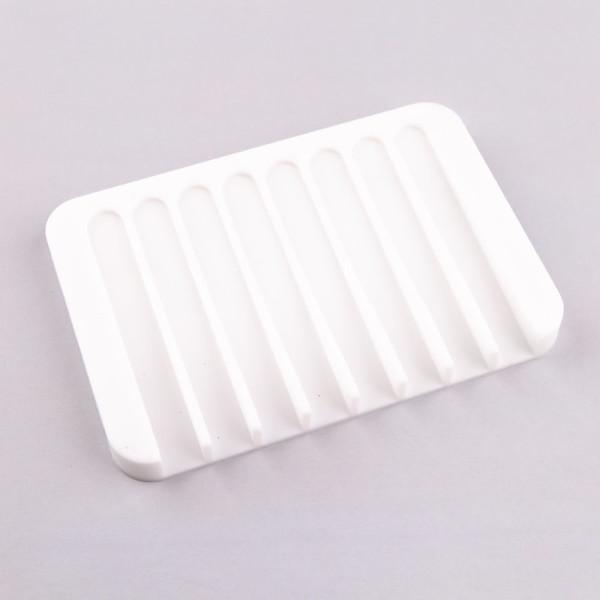 Jabonera de Silicona Blanca
